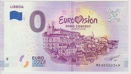 Billet Touristique 0 Euro Souvenir Portugal - Lisboa 2018-1 N°MEAR000349 - Private Proofs / Unofficial