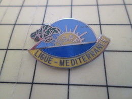 1015c Pin's Pins / Beau Et Rare : Thème ASSOCIATIONS / FSPF LIGUE MEDITERRANEE MER SOLEIL - Associations