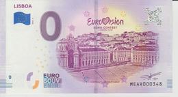 Billet Touristique 0 Euro Souvenir Portugal - Lisboa 2018-3 N°MEAR000348 - Private Proofs / Unofficial