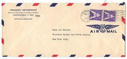 United States 1944 Airmail Cover Albuquerque, New Mexico - Treasury Department - Etats-Unis