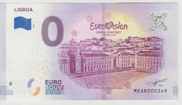 Billet Touristique 0 Euro Souvenir Portugal - Lisboa 2018-3 N°MEAR000349 - Private Proofs / Unofficial