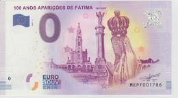 Billet Touristique 0 Euro Souvenir Portugal - 100 Anos Apariçoes De Fatima 2017-1 N°MEPF001786 - Private Proofs / Unofficial