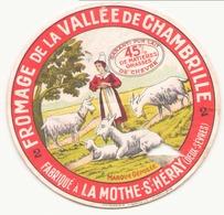 Etiquette à Fromage De La Vallée De Chambrille à La Mothe-St-Héray Deux-Sèvres ( Déchirure ) - Formaggio