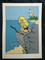 Gravure Natacha Numérotée Et Dédicacée Par F Walthery - Screen Printing & Direct Lithography