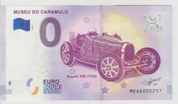 Billet Touristique 0 Euro Souvenir Portugal - Museum Do Caramulo 2018-1 N°MEAQ000257 - Private Proofs / Unofficial
