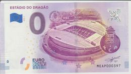Billet Touristique 0 Euro Souvenir Portugal - Estadio Do Dragao 2018-2 N°MEAP000397 - Private Proofs / Unofficial