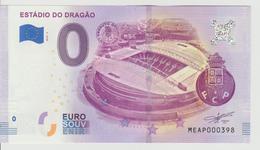 Billet Touristique 0 Euro Souvenir Portugal - Estadio Do Dragao 2018-2 N°MEAP000398 - Private Proofs / Unofficial