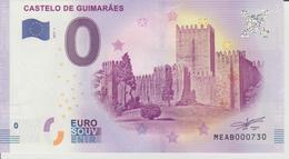 Billet Touristique 0 Euro Souvenir Portugal - Castelo De Guimaraes 2017-2 N°MEAB000730 - Private Proofs / Unofficial