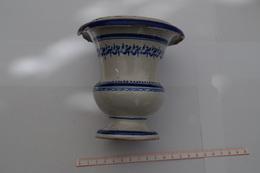 B/ Ancien  Pot Pharmacie  13 Cm Hauteur En L'état Farmacie XIXe Ceramic Ceramique Faience - Ceramics & Pottery
