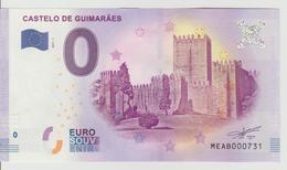 Billet Touristique 0 Euro Souvenir Portugal - Castelo De Guimaraes 2017-2 N°MEAB000731 - Private Proofs / Unofficial