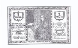 Notgeld -  Haarbruck - Höxter - Westfalen  - 1 Mark - Einzelschein      - NG-050 - Lokale Ausgaben