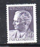 YUG77C - YUGOSLAVIA 1953,  Unificato N. 634  Nuovi  ***  TITO - 1945-1992 Repubblica Socialista Federale Di Jugoslavia