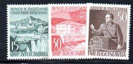 YUG77D - YUGOSLAVIA 1953,  Unificato N. 640/642  Nuovi  * - 1945-1992 Repubblica Socialista Federale Di Jugoslavia