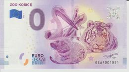 Billet Touristique 0 Euro Souvenir Slovaquie - Zoo Kosice 2018-1 N°EEAF001851 - Private Proofs / Unofficial