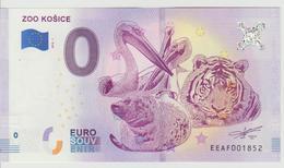 Billet Touristique 0 Euro Souvenir Slovaquie - Zoo Kosice 2018-1 N°EEAF001852 - Private Proofs / Unofficial