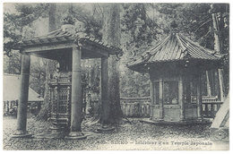 Cpa Messageries Maritimes Japon, Nikko, Intérieur D'une Temple Japonais, Dieulefils - Japon