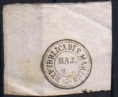Frammento Di Annullo Repubblica Di San Marino Prefilatelico - 2 Baj - Saint-Marin