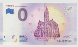 Billet Touristique 0 Euro Souvenir Slovaquie - Kosice 2018-1 N°EEAD001898 - EURO