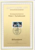 1993 - Germany ETB 42/1993 - Music - Composers - 100. Todestag Von Peter Iljitsch Tschaikowski - Komponist [D09_196] - [7] West-Duitsland