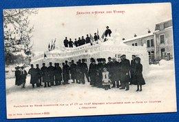 Gerardmer  / Habitation En Neige Par La 4 è Cie Du152  Régiment D'Infanterie Dans La Cour Du Quartier - Gerardmer
