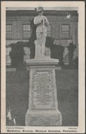 Memorial Statue, Morrab Gardens, Penzance, Cornwall, 1905 - Williams Postcard - England