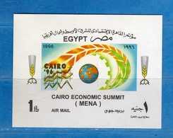 (Mn1) EGITTO - ** -1996 - Conférence MENA. Yvert. BF. 61 .  MNH.  Vedi Descrizione. - Blocks & Sheetlets
