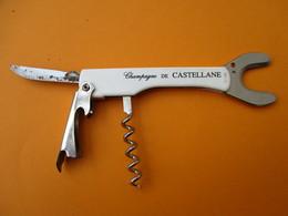 Couteau Décapsuleur Tire-Bouchon Ancien Publicitaire/ Champagne / De CASTELLANE/ France/  Vers 1960-1980        SPO27 - Bottle Openers