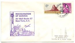 United States 1966 1st Flight Cover A.M. Route 87 New York, NY - Air Mail