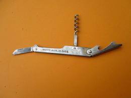 Couteau Décapsuleur Tire-Bouchon Ancien Publicitaire/Alsace / WANTZ-BARR/  Vers 1960-1980        SPO28 - Bottle Openers