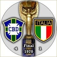 PIN FIFA WORLD CUP FINAL 1970 BRAZIL Vs ITALY - Fútbol