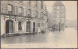 Quai Aux Fleurs, Inondations De Paris, 1910 - Lévy CPA LL129 - Paris Flood, 1910