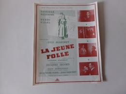 """Publicité """" La Jeune Folle """" Film D'Yves Allegret Avec Danielle Delorme ( Déchirure ) - Cinema Advertisement"""