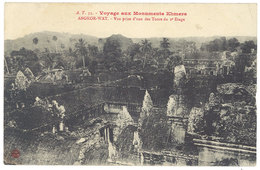 Cpa Asie - Cambodge - Angkor Wat, Vue Prise D'une Des Tours ... - Cambodge