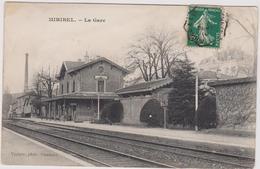 Cpa B23 MIRIBEL Intérieur De La Gare-rails-indiqué Au Dos, Au Stylo, GARE P.L.M. - Otros Municipios