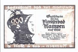 Notgeld - Kampen A Sylt - Einzelschein 200 Pfennig   - NG-059 - Lokale Ausgaben