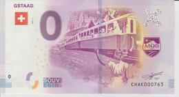 Billet Touristique 0 Euro Souvenir Suisse - Gstaad 2017-1 N°CHAK000763 - Private Proofs / Unofficial