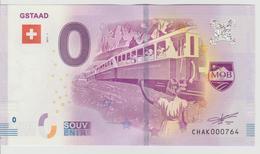 Billet Touristique 0 Euro Souvenir Suisse - Gstaad 2017-1 N°CHAK000764 - Private Proofs / Unofficial