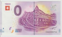 Billet Touristique 0 Euro Souvenir Suisse - Tasch 2018-3 N°CHAX000752 - Private Proofs / Unofficial