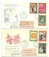 Vatican 1966 Scott 439-444 2 Registered FDCs Conclusion Of Vatican II - FDC
