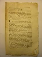 LOI DU 22 JUIN 1795 - HOLLANDE PROVINCES UNIES DES PAYS BAS BLAUW ET MEYER MINISTRES PLENIPOTENTIAIRES - Decrees & Laws