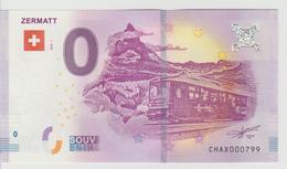 Billet Touristique 0 Euro Souvenir Suisse - Zermatt 2018-1 N°CHAX000799 - Private Proofs / Unofficial