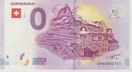 Billet Touristique 0 Euro Souvenir Suisse - Gornergrat 2018-2 N°CHAX000751 - Private Proofs / Unofficial