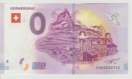 Billet Touristique 0 Euro Souvenir Suisse - Gornergrat 2018-2 N°CHAX000752 - Private Proofs / Unofficial