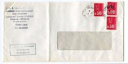 !!! GREVE DE 1974 CACHET CHAMBRE DE COMMERCE DE MEAUX - Marcophilie (Lettres)