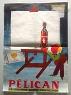 Affiche - Biere Pelican Brasserie Pelforth Lille - Peintre Au Chevalet - Signée A.R. - Dim 35 X 48 Cm - Plakate