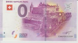 Billet Touristique 0 Euro Souvenir Suisse - Swiss Vapeur Parc 2017-1 N°CHAF003359 - Private Proofs / Unofficial