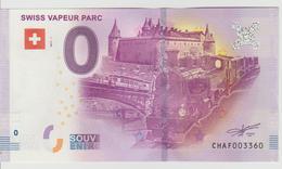 Billet Touristique 0 Euro Souvenir Suisse - Swiss Vapeur Parc 2017-1 N°CHAF003360 - Private Proofs / Unofficial