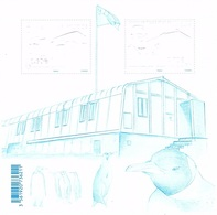 TAAF N° F792 Neufs** En Feuillet Constructions Métalliques - Neufs