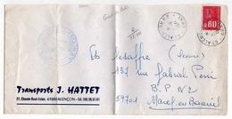 !!! LETTRE DE GREVE D'ALENCON 1974 CACHET CHAMBRE DE COMMERCE - Poststempel (Briefe)