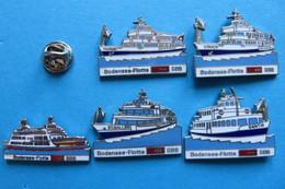 Lot De 5 Pin's, Bateau, SBB,Bodensee-Flotte,Fähre,limité - Transportation